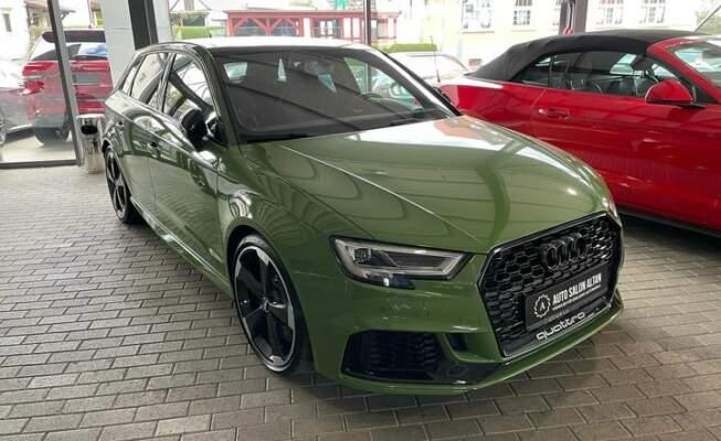 Trouver votre Audi RS3 Sportback 400 ch. directement chez un concessionnaire, sur les conseils de Courtage Auto.